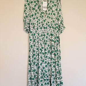 NEW ZARA CANDY DRESS FLORAL A LINE